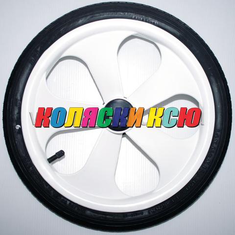 Колесо для детской коляски №003068 надув 14 дюймов (44-288) 14х1 3/8х1 5/8 с тормозной шестеренкой. BEBE-MOBILE INES / ADAMEX SOFIA