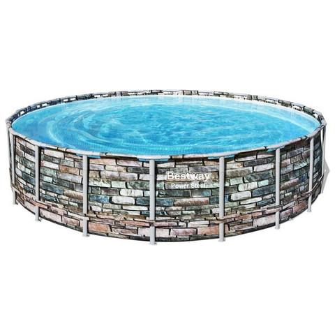 Каркасный бассейн Bestway Loft 56883 (610х132 см) с картриджным фильтром, лестницей и тентом / 22521