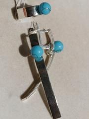 Лола (кольцо + серьги из серебра)