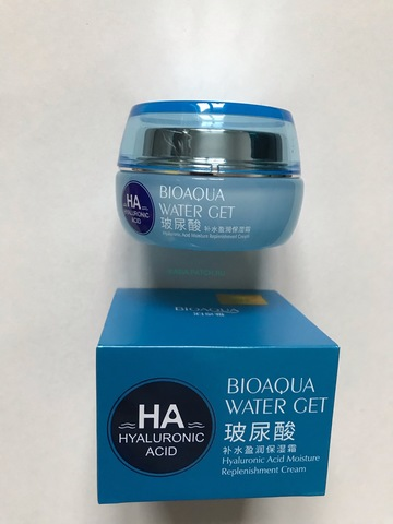 BioAqua HA Water Get Moisture Replenishment Cream Гиалуроновый крем для лица (50 г)