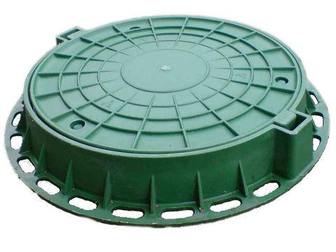 Люк полимерно-песчанный тип Л Садовый 1,5т зеленый