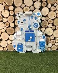 Бизиборд Мишка 50х60 см Синий для мальчика
