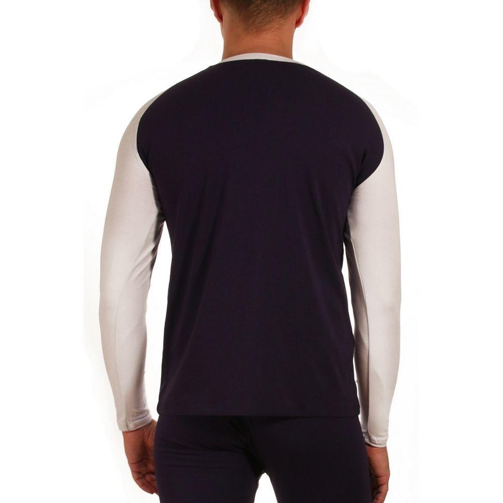 Мужской комплект (кальсоны и футболка) темно-синий WANG JIANG