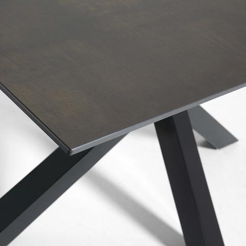 Стол Arya 160x90 керамика коричневый
