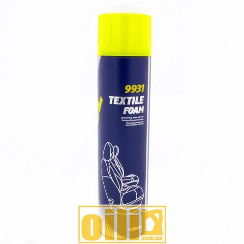 Mannol 9931 TEXTILE FOAM 650мл - Очисник оббивки салону пінний