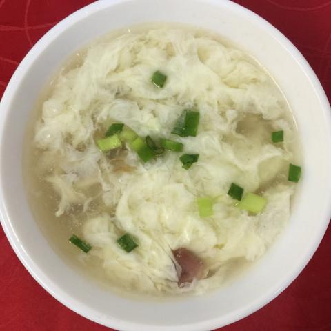 Суп яичный с морепродуктами