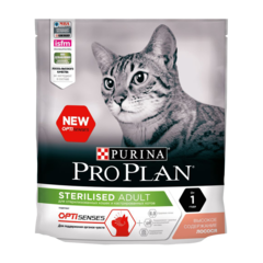 Purina Pro Plan Sterilised Сухой корм для стерилизованных кошек и кастрированных котов с Лососем