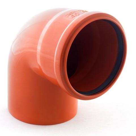 Отвод наружной канализации 110/90° 6005