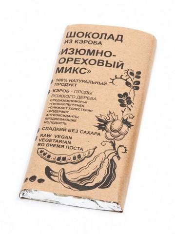 Шоколад из кэроба Изюмно-Ореховый 100г БК Урожай