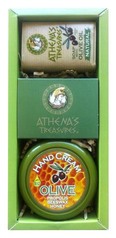 Подарочный набор в оригинальной упаковке ATHENA'S TREASURES крем и мыло