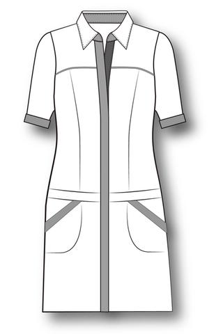 Выкройка туники - рубашки отрезной по бёдрам