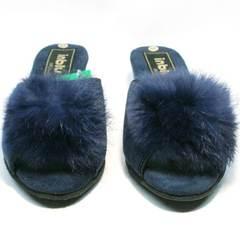 Комнатные тапочки женские Inblu RR-7S Dark Blue