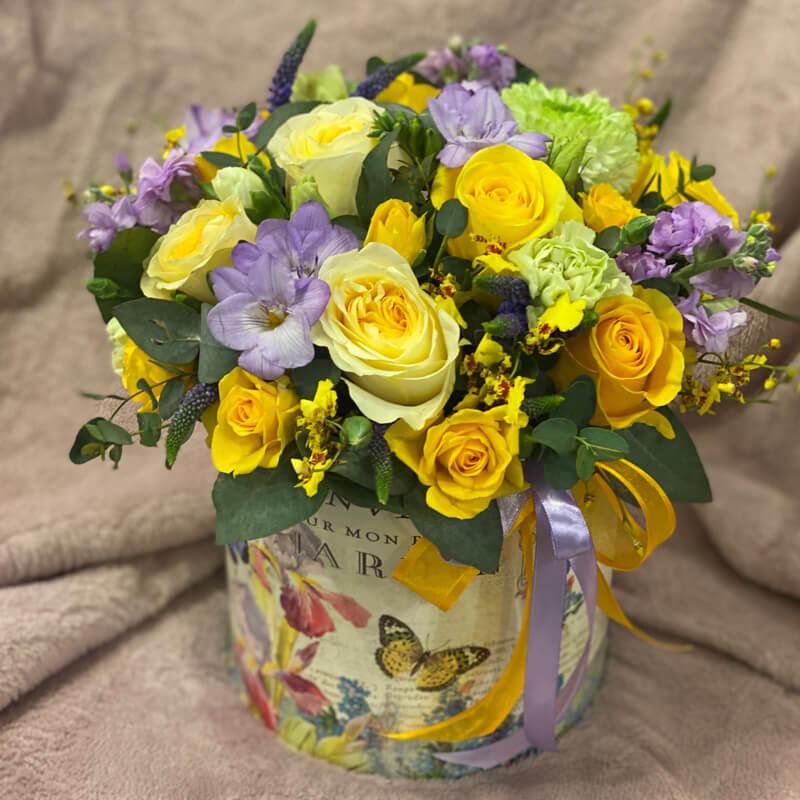Цветочная композиция в корзине 361