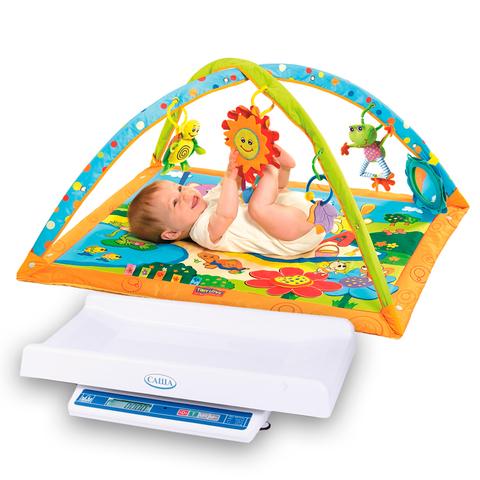 Медицинские весы Саша + Развивающий коврик Tiny Love Солнечный денек (4 нед.)