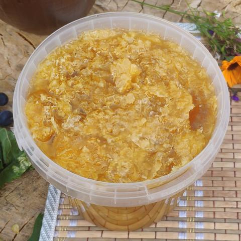 Забрус с мёдом 2021 Ивановка в литровом ведерке (1,35 кг)