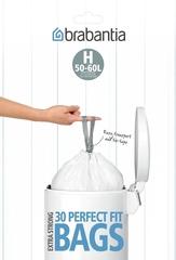 Мешки для мусора PerfectFit, размер H (50-60 л), упаковка-диспенсер, 30 шт.