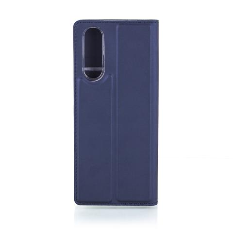 Чехол-книжка Brosco для Xperia 5, синий цвет