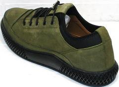 Casual кроссовки туфли кожаные мужские Luciano Bellini C2801 Nb Khaki.