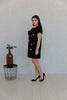 Платье с камнями короткий рукав