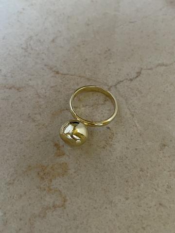 Кольцо Ингот, позолота