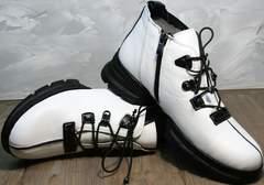 Полуботинки женские на шнуровке Ripka 146White