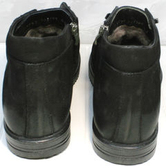 Мужские полуботинки на шнурках с мехом Luciano Bellini 71783 Black.