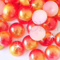 Купите полубусины оптом в Москве Red Sunrise красно-оранжевые недорого