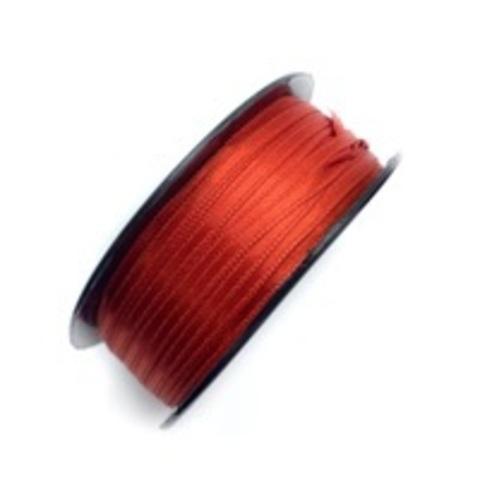 Атласная лента 3,5 мм, красная