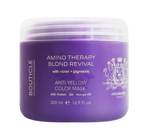 """Восстанавливающая маска с анти-желтым эффектом для осветленных волос """"Anti-Yellow Color Mask"""