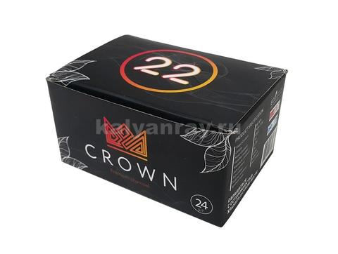Кокосовый уголь Crown 24 кубика по 22 мм