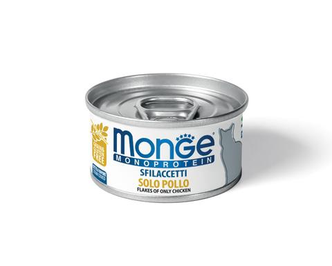 купить Monge Cat Monoprotein Only Chicken хлопья (волокна) для кошек из курицы 80г