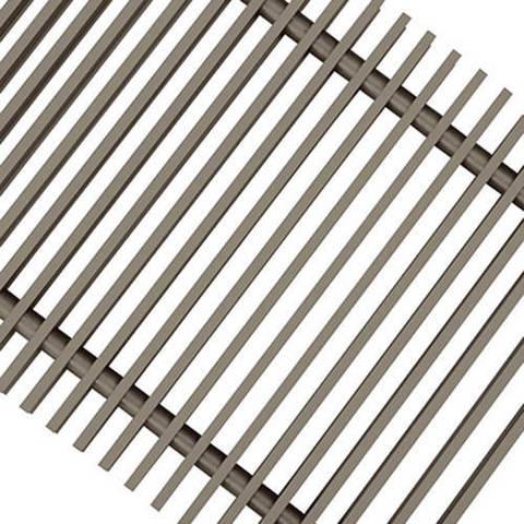 Решетка поперечная алюминиевая Techno шириной 200 мм, длина 2000 мм (цвет титан)