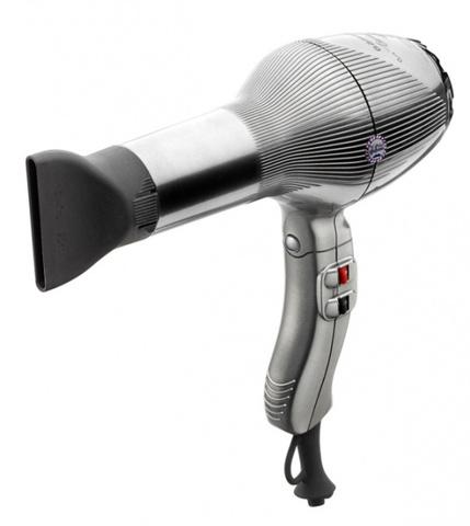 Фен Gamma Piu Barber, 2000 Вт, 2 насадки, серебристый