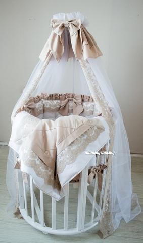 Комплект в круглую/овальную кроватки Dynasty