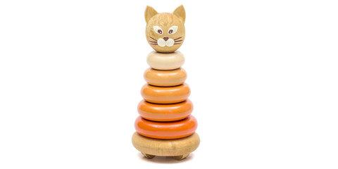 Пирамидка цветная «Котёнок»
