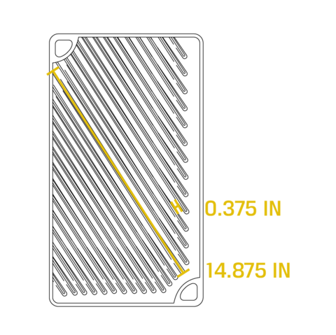 Поднос-гриль прямоугольный, артикул LDP3