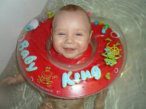 Круг на шею для плавания Baby-Krug, оранжевый, с 0 мес до 2 лет