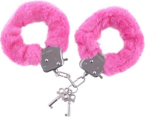 Розовые наручники - Toyfa Basic Basic 951033