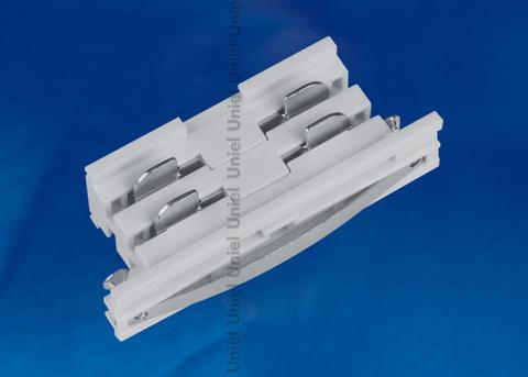 UBX-A11 SILVER 1 POLYBAG Соединитель для шинопроводов прямой внутренний. Трехфазный. Цвет — серебряный. Упаковка — полиэтиленовый пакет.