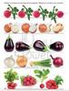"""Рабочий блокнот №6 для детей 2-5 лет """"Овощи и ягоды""""."""