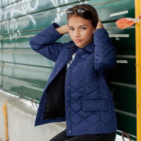 Демісезонна синя куртка на підлітка дівчинку
