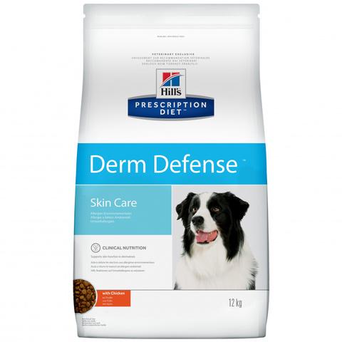 Корм Hill's Hills Prescription Diet Derm Defense Skin Care сухой диетический корм для собак для поддержания здоровья кожи и при аллергии с курицей 12 кг
