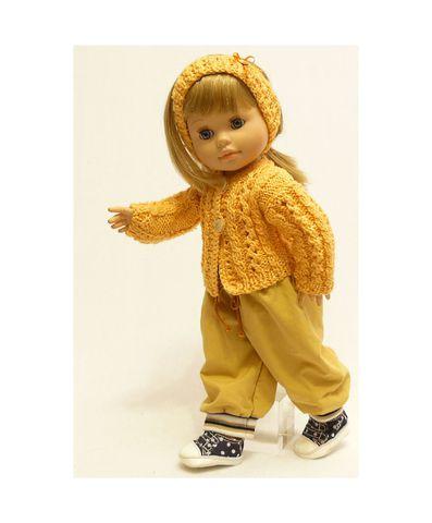 Вязаная кофта - На кукле. Одежда для кукол, пупсов и мягких игрушек.