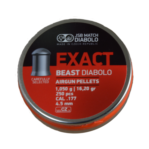 Пульки JSB Exact Beast 4.52 мм (1.050 г, 250 шт.)