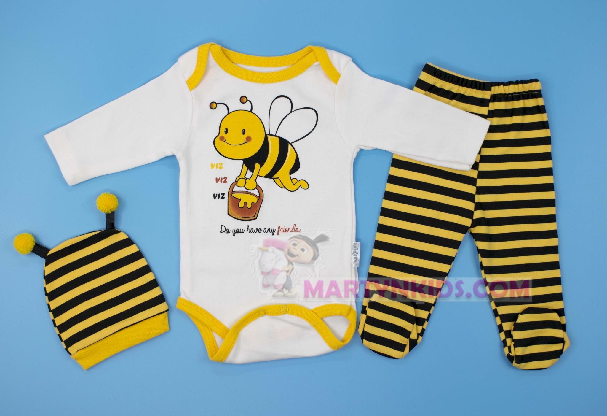 3103  боди-тройка Пчелка