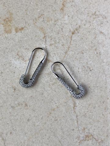 Серьги Булата, серебряный цвет