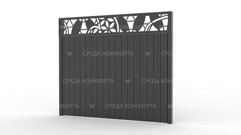 Забор из профлиста 2500х2000 мм ZBR0019