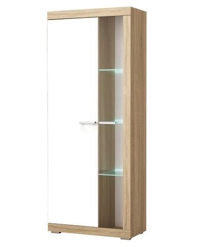 Шкаф-витрина СОНАТА ШВС-800 сонома / белый глянец