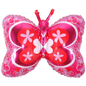 Фольгированный шар Бабочка розовая 59 Х 89 см