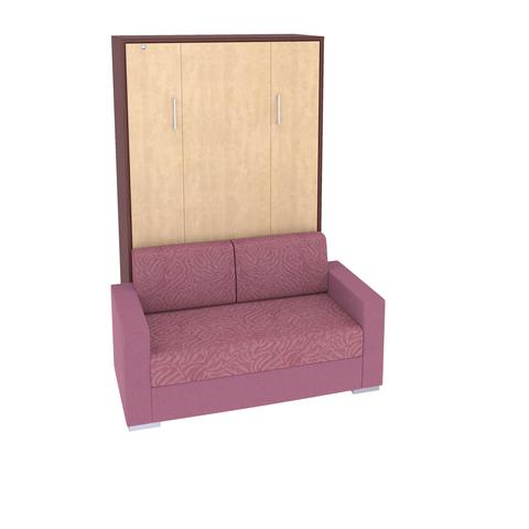 Шкаф-кровать с диваном вертикальная полутороспальная 120 см